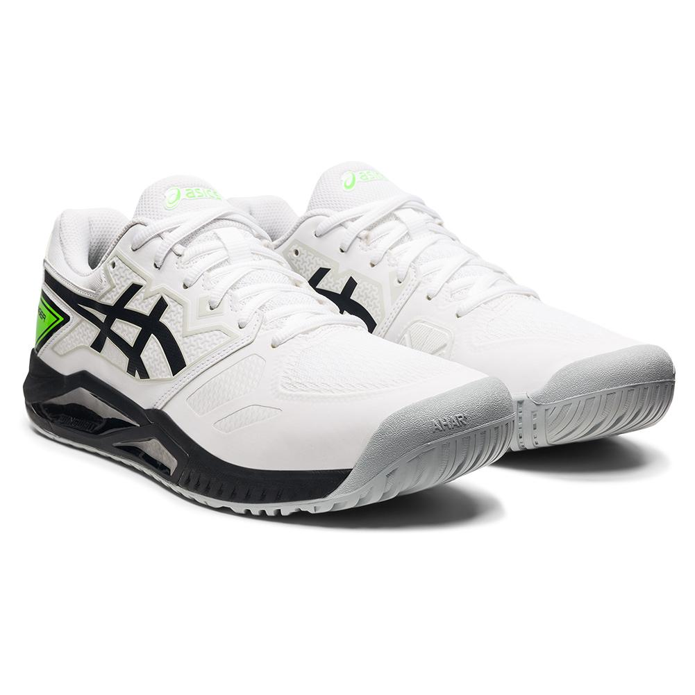 Men's Gel- Challenger 13 Tennis Shoes White And Green Gecko