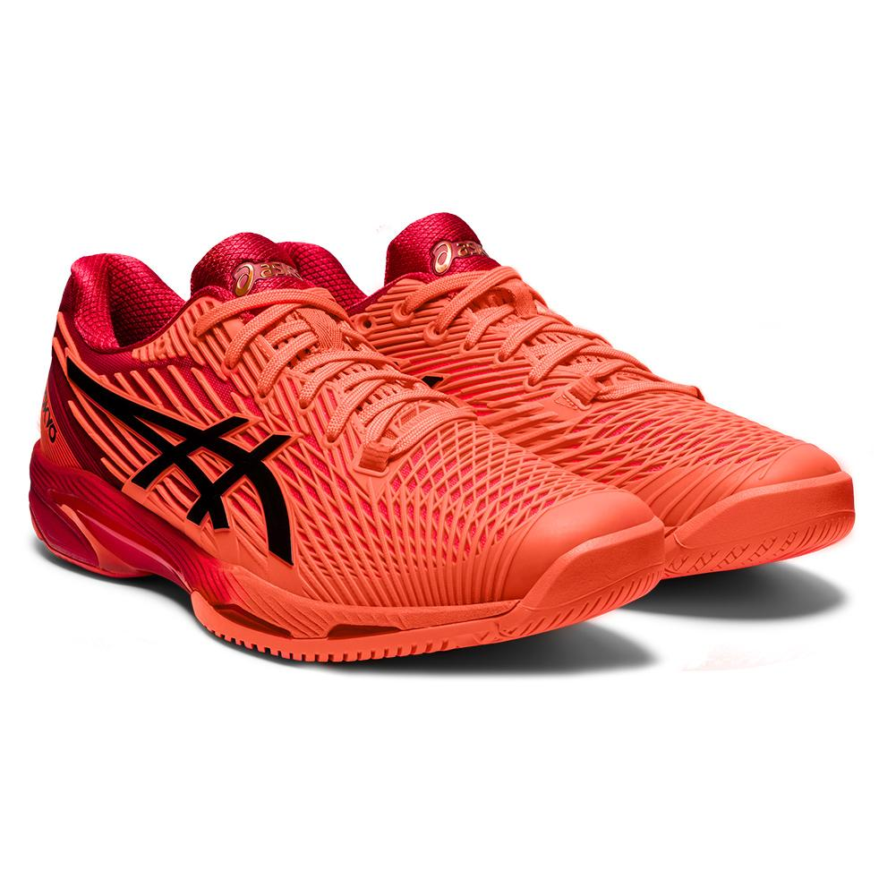 Men's Solution Speed Ff 2 Tokyo Tennis Shoes Sunrise Red And Eclipse Black