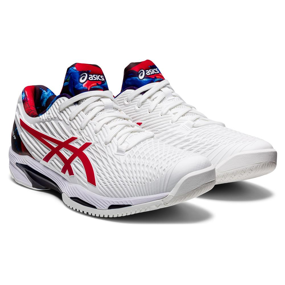 Men's Solution Speed Ff 2 Le Tennis Shoes White And Classic Red