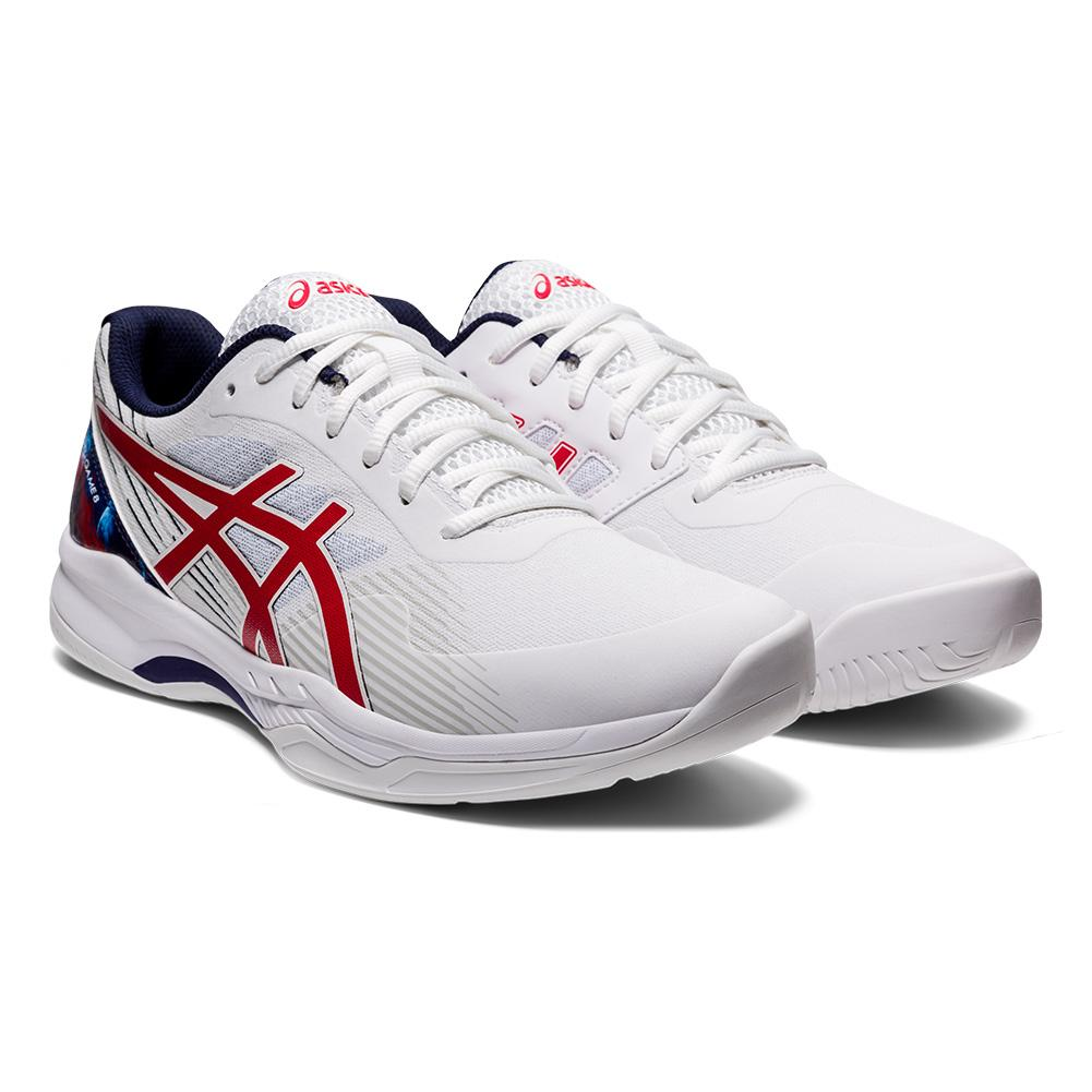 Men's Gel- Game 8 Le Tennis Shoes White And Classic Red