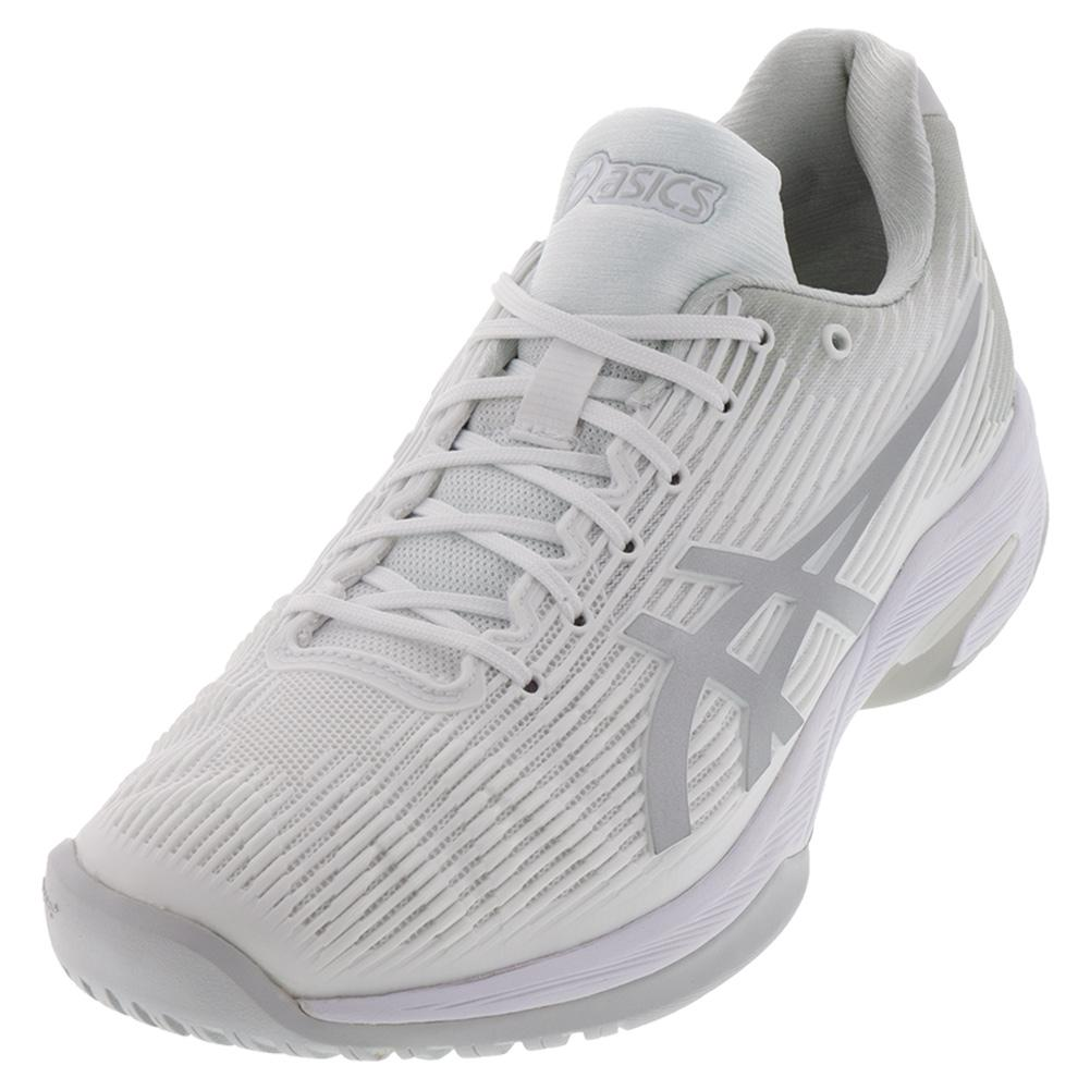 Women's Solution Speed Ff Tennis Shoes White And Silver