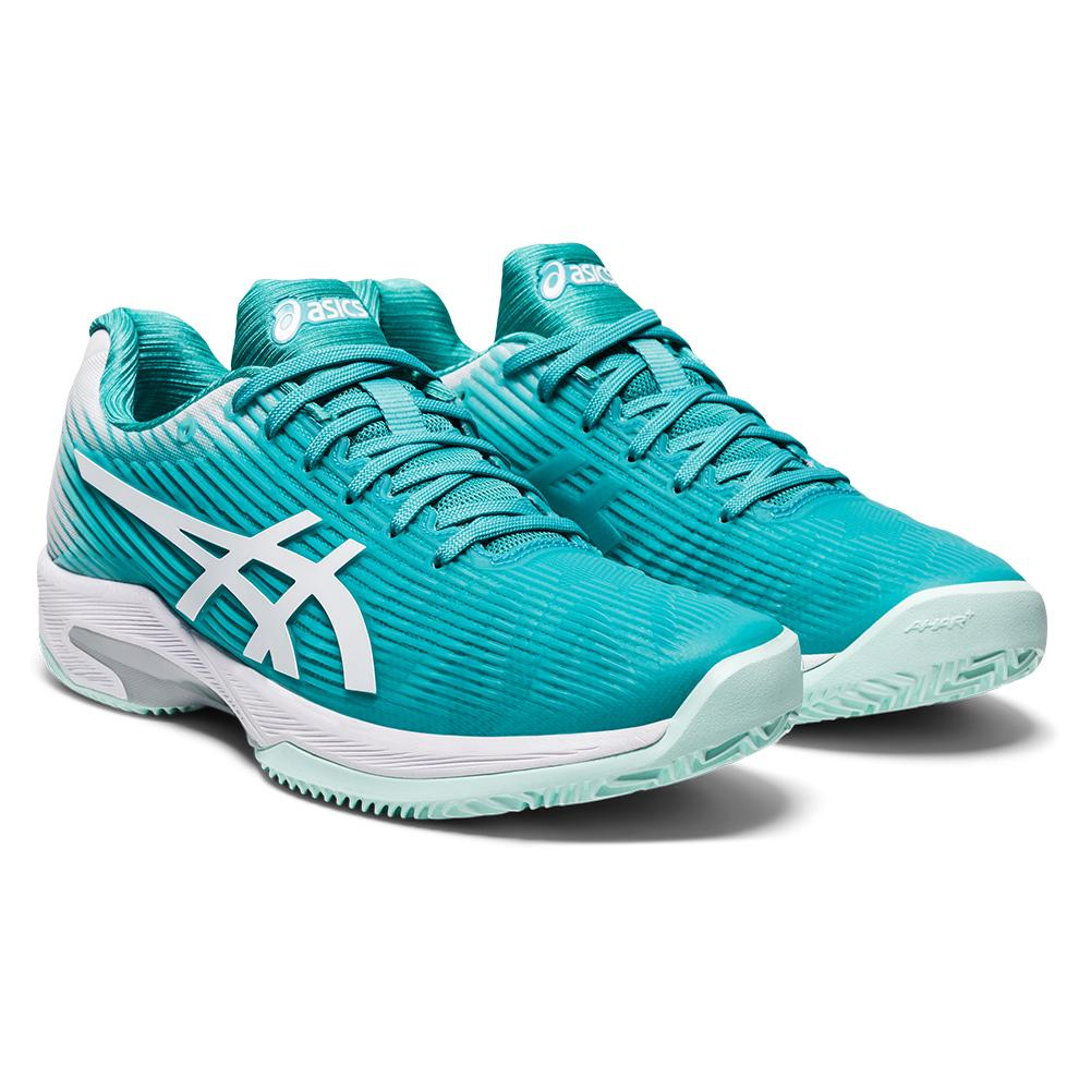 Women's Solution Speed Ff Clay Tennis Shoes Techno Cyan And White