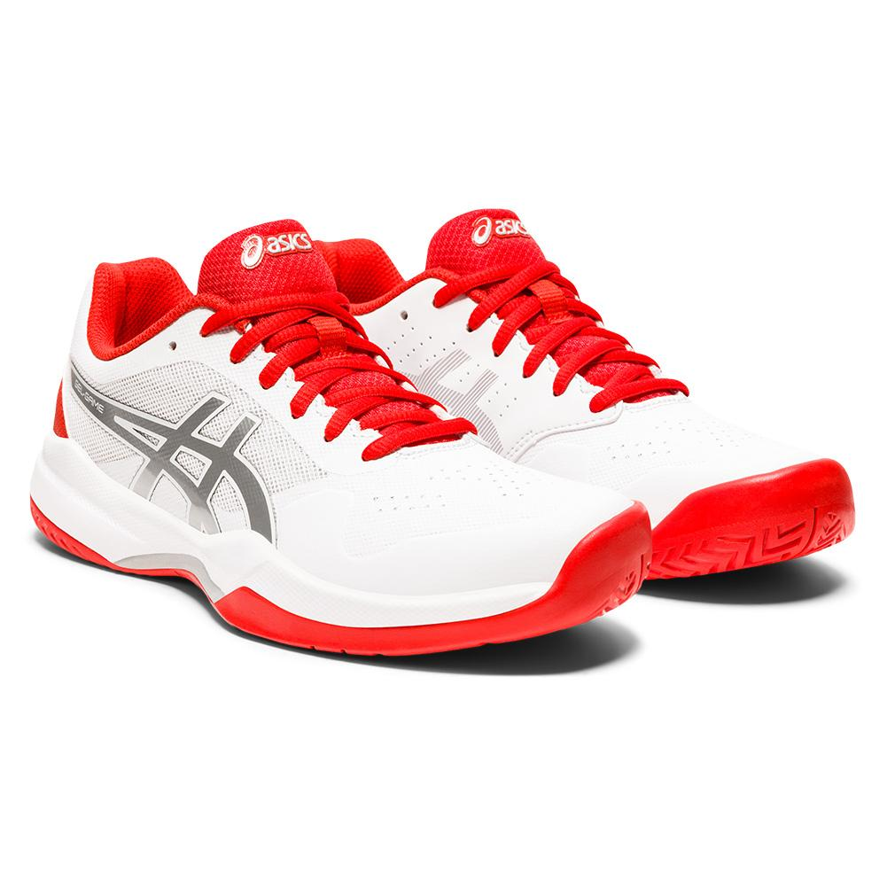 Women's Gel- Game 7 Tennis Shoes White And Fiery Red