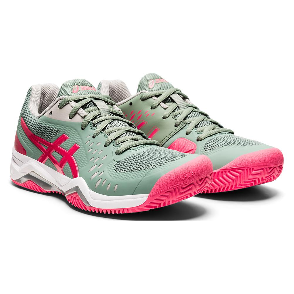 Women's Gel- Challenger 12 Clay Tennis Shoes Slate Grey And Pink Cameo