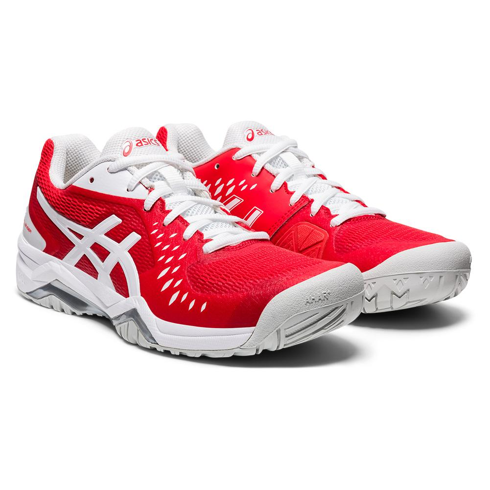 Women's Gel- Challenger 12 Tennis Shoes Fiery Red And White