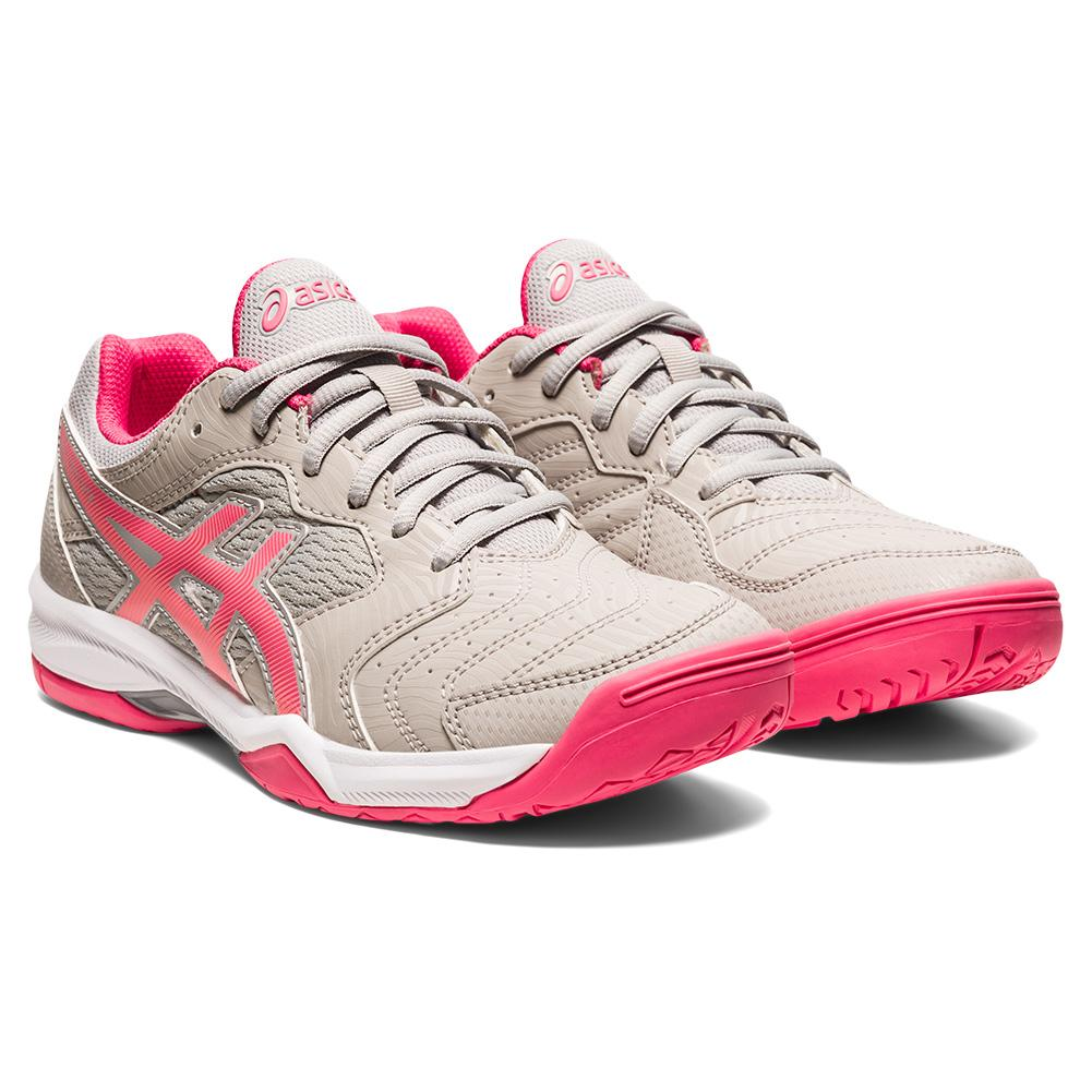 Women's Gel- Dedicate 6 Tennis Shoes Oyster Grey And Pink Cameo