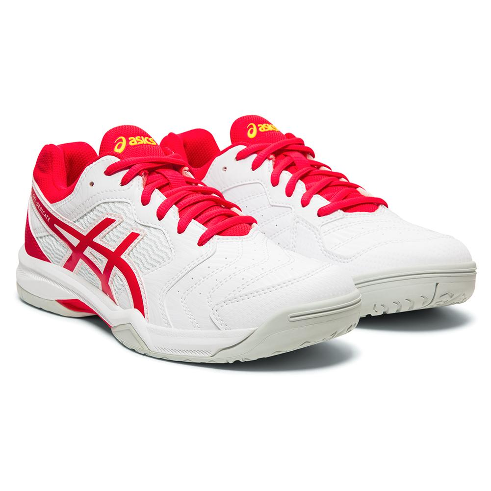 Women's Gel- Dedicate 6 Tennis Shoes White And Laser Pink