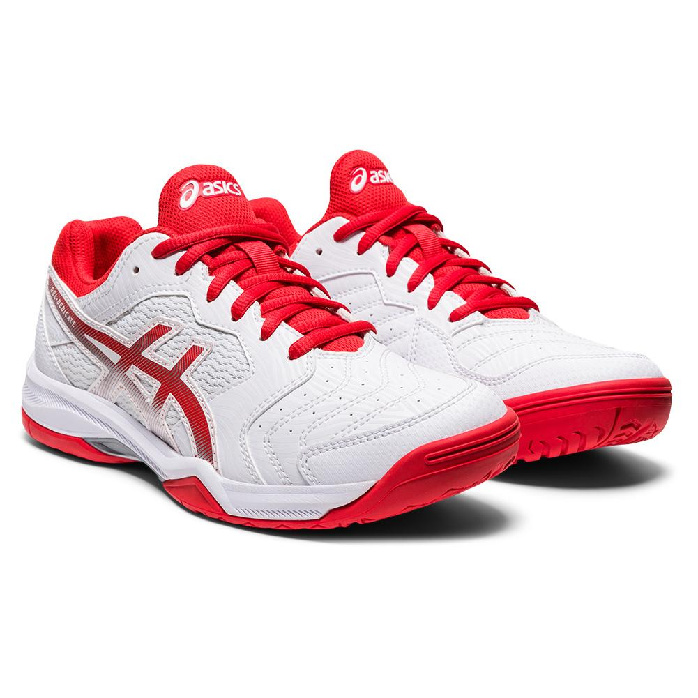 Women's Gel- Dedicate 6 Tennis Shoes White And Fiery Red