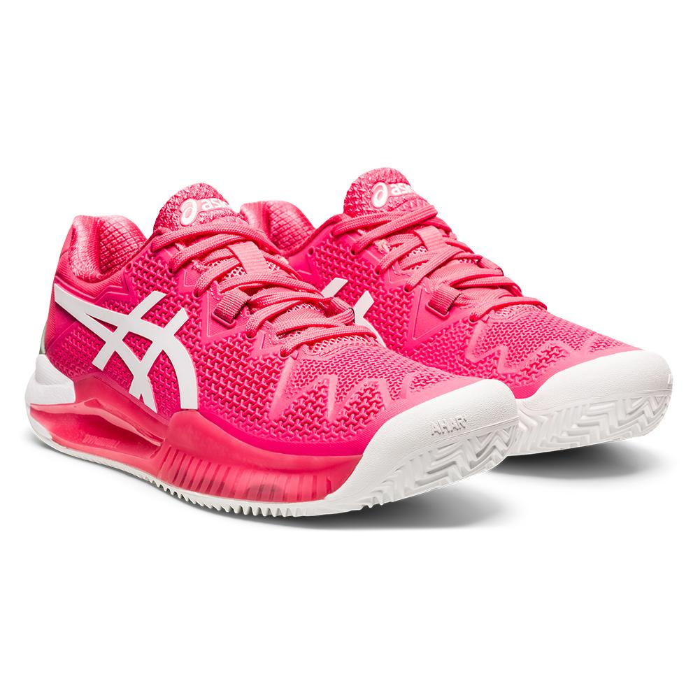 Women's Gel- Resolution 8 Clay Tennis Shoes Pink Cameo And White