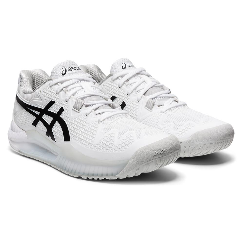 Women's Gel- Resolution 8 Tennis Shoes White And Black