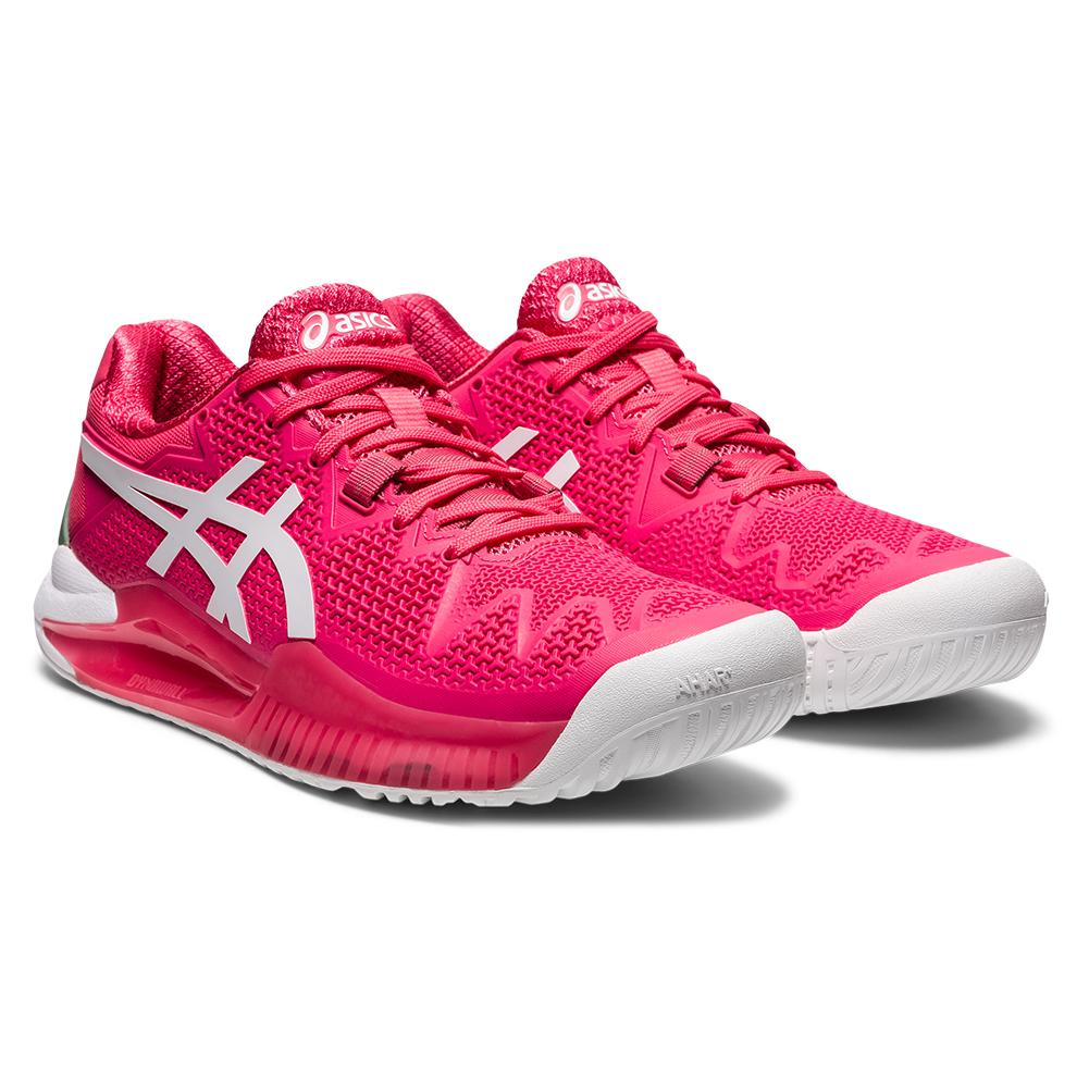 Women's Gel- Resolution 8 Tennis Shoes Pink Cameo And White