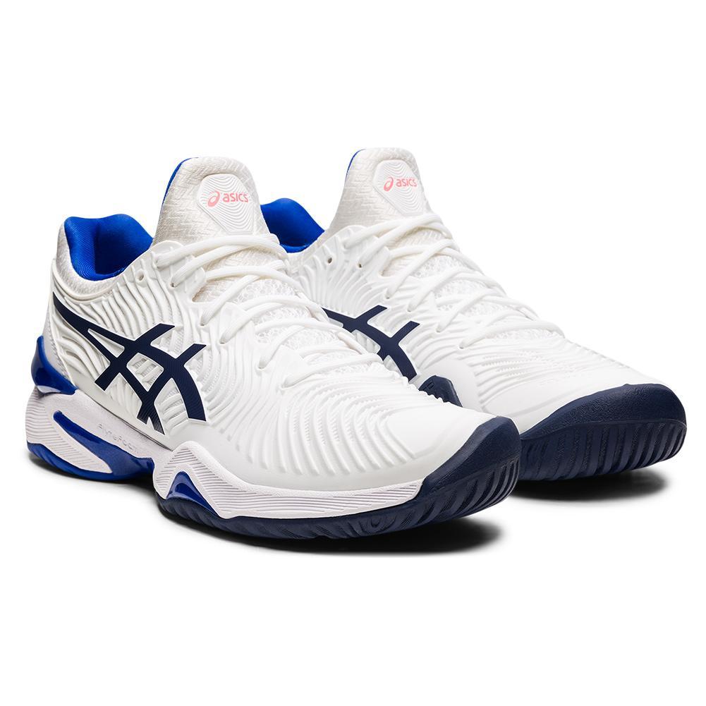 Women's Court Ff 2 Tennis Shoes White And Lapis Lazuli Blue