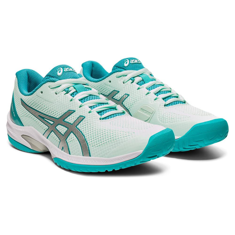 Women's Court Speed Ff Tennis Shoes Bio Mint And Pure Silver