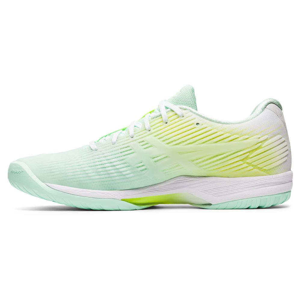 Green Sports Asics Womens Solution Speed FF Limited Edition Tennis Shoes