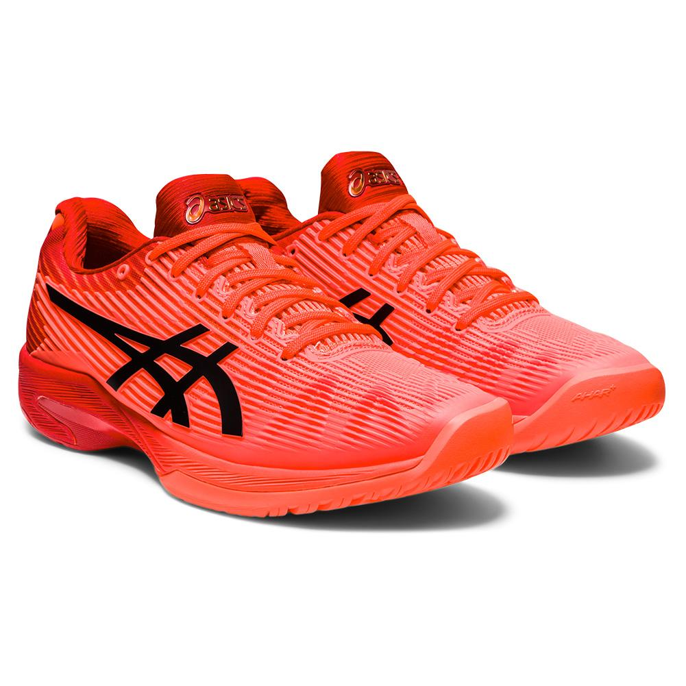Women's Solution Speed Ff Tokyo Tennis Shoes Sunrise Red And Eclipse Black