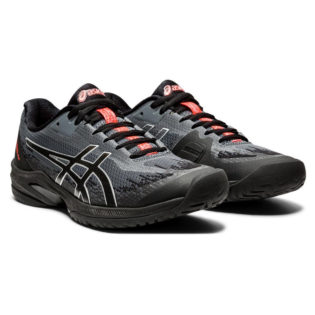 Women's Court Speed Ff Future Tokyo Tennis Shoes Black And Sunrise Red