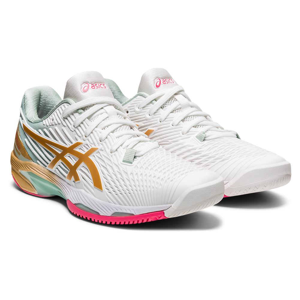 Women's Solution Speed Ff 2 Le Tennis Shoes White And Champagne