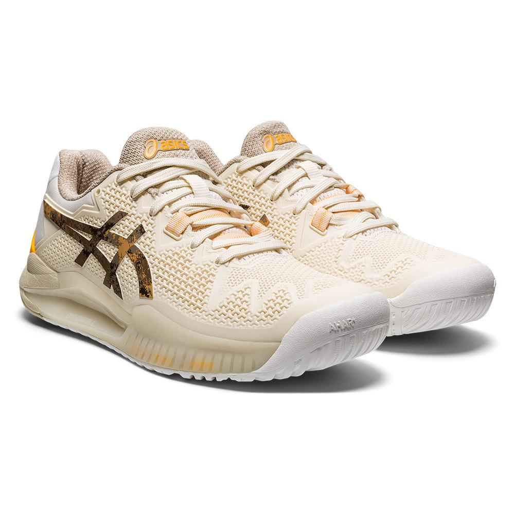 Women's Gel- Resolution 8 Le Tennis Shoes Cream And Putty