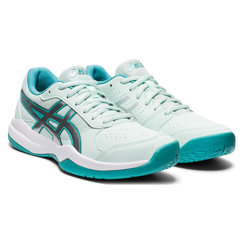 Juniors ` Gel- Game 7 Gs Tennis Shoes Bio Mint And Pure Silver