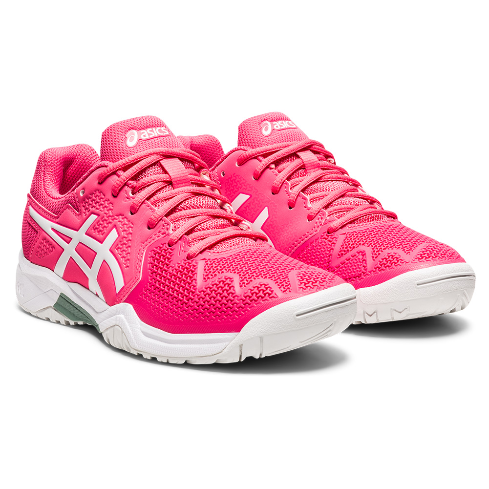 Juniors ` Gel- Resolution 8 Gs Tennis Shoes Pink Cameo And White