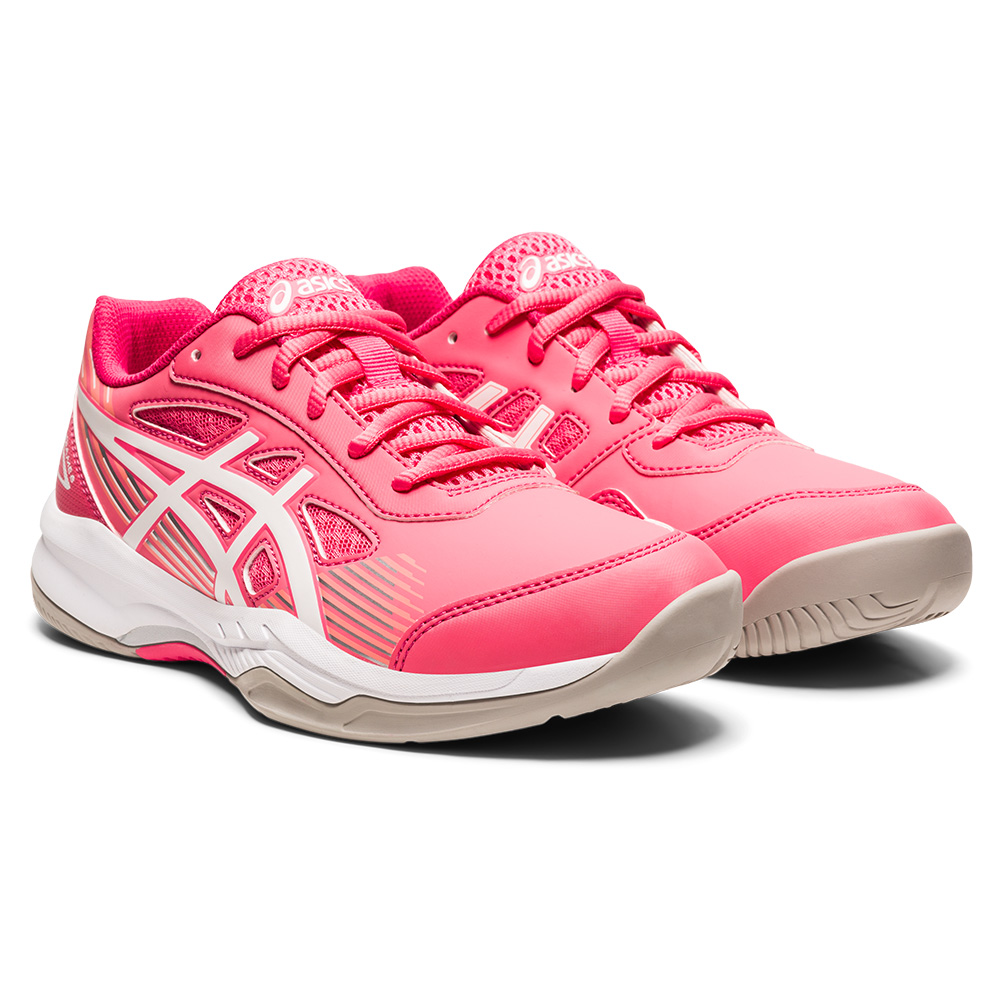 Juniors ` Gel- Game 8 Gs Tennis Shoes Pink Cameo And White