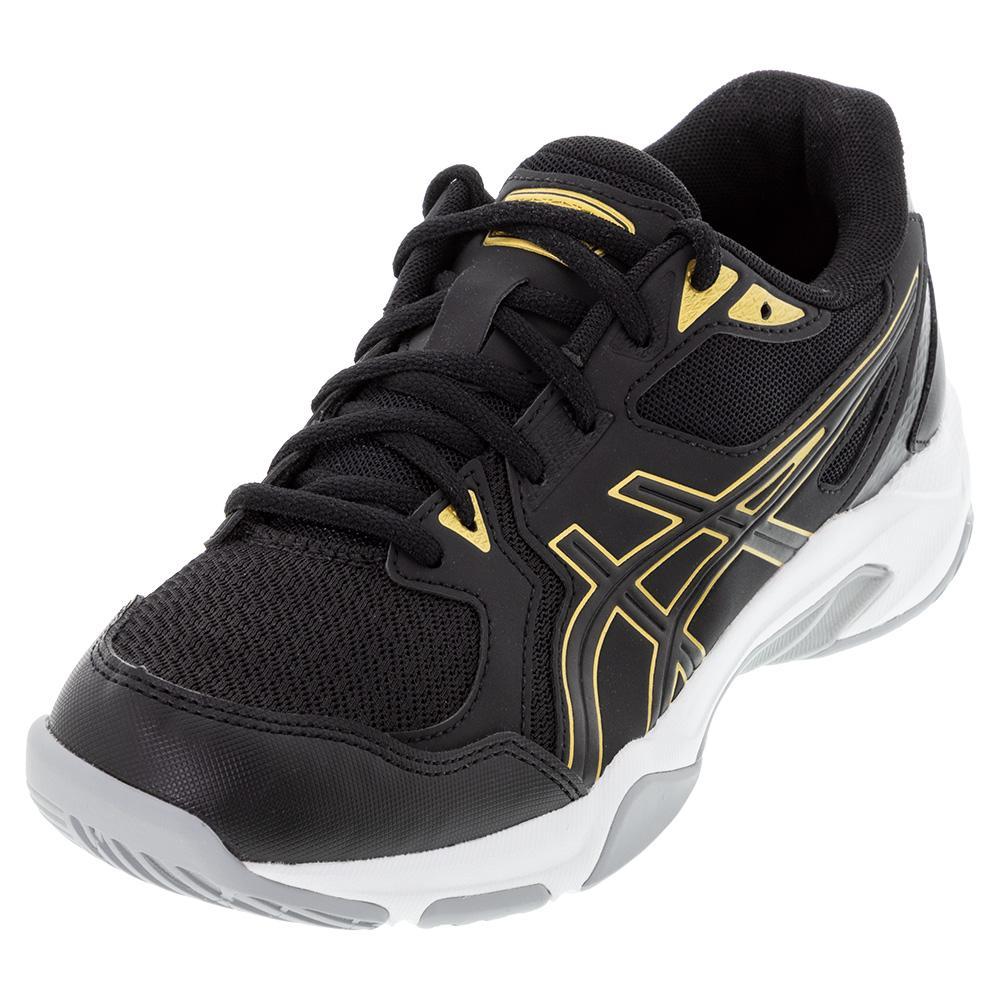 Men's Gel- Rocket 10 Indoor Sport Shoes Black And Pure Gold