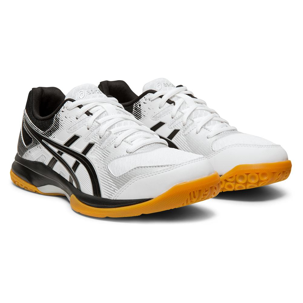 Women's Gel- Rocket 9 Squash Shoes White And Black
