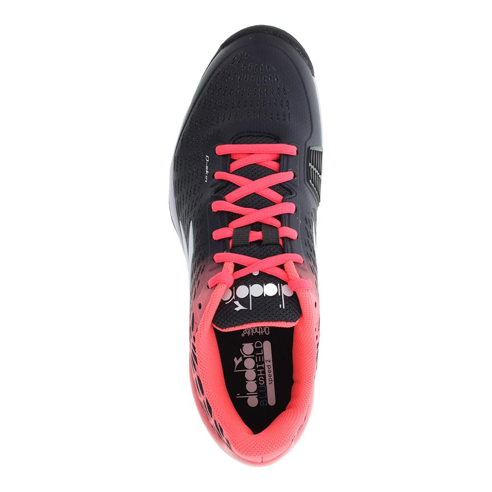 DIADORA-Women-s-Speed-Blushield-2-Ag-Tennis-Shoes-Black-and-Fluo-Coral-1729