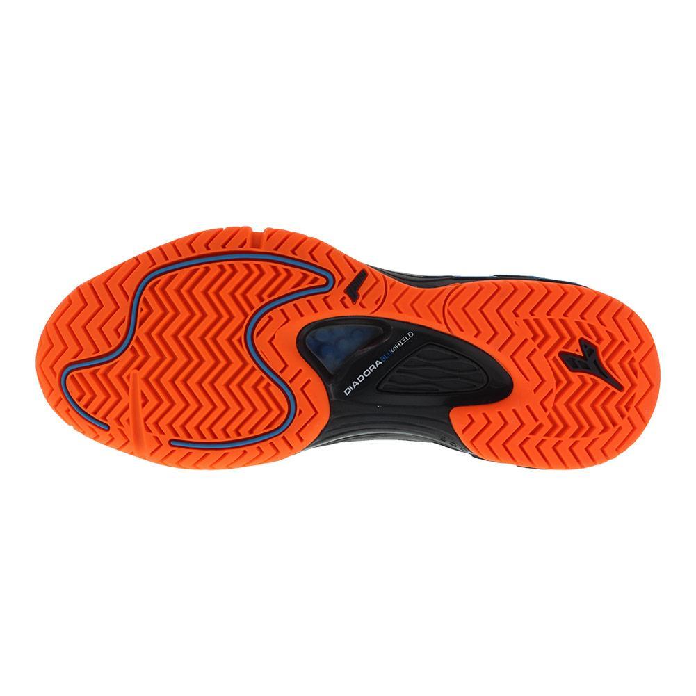 5f3e43cb Diadora Men's Speed Blushield Fly AG Tennis Shoe (Black/Orange Vibrant)