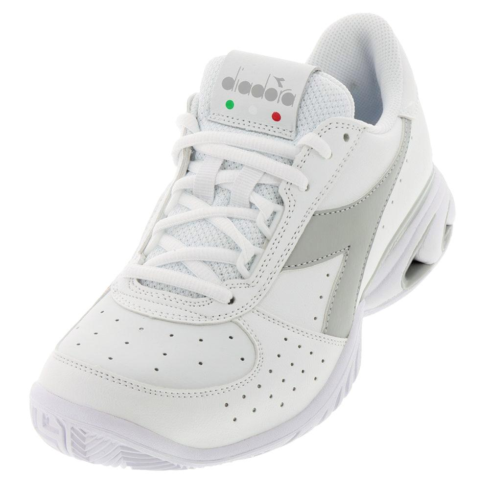 Women's S Star K Elite Ag Tennis Shoes White And Silver