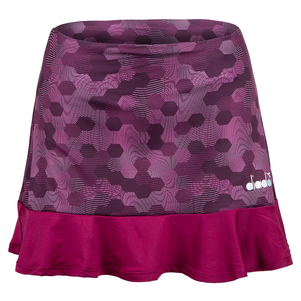 Women's Easy Tennis Skort In Plum Perfect And Boysenberry