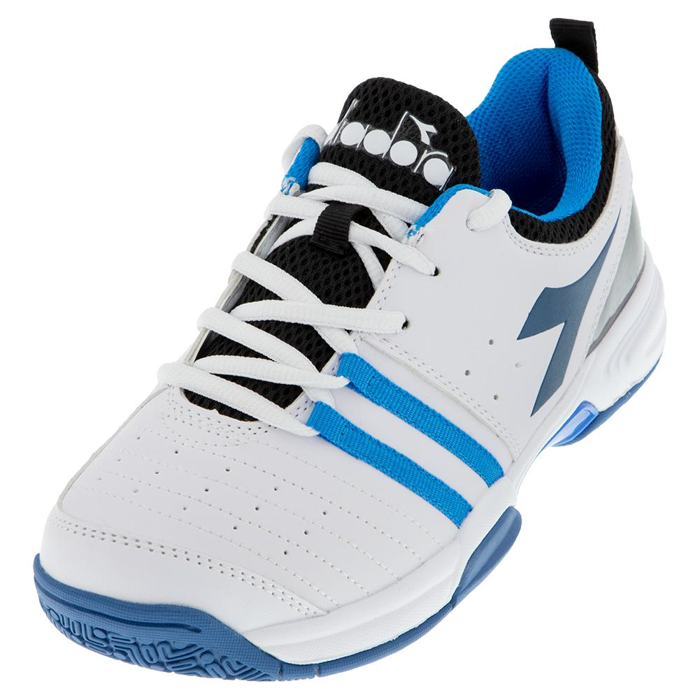 Juniors's Fly 2 Tennis Shoes White And Deep Water
