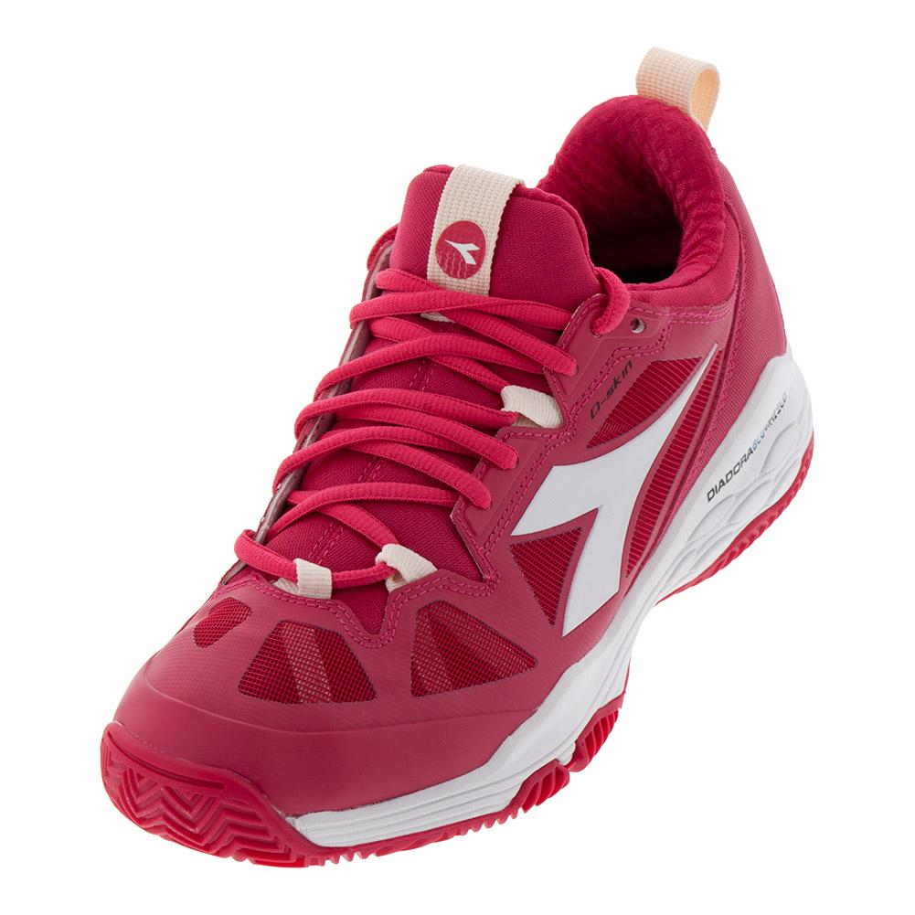 low priced 122eb b0f42 Diadora Women s Speed Blushield Fly 2 Clay Tennis Shoes Virtual Pink and  White