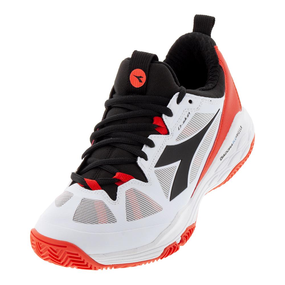 Men's Speed Blushield Fly 2 Clay Tennis Shoes White And Granadine