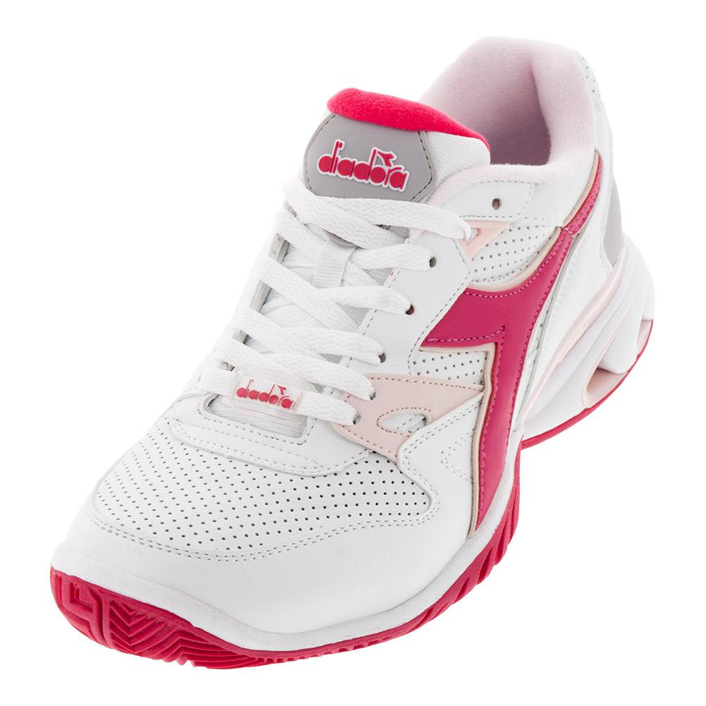 Women's S Star K Ace Ag Tennis Shoes White And Red