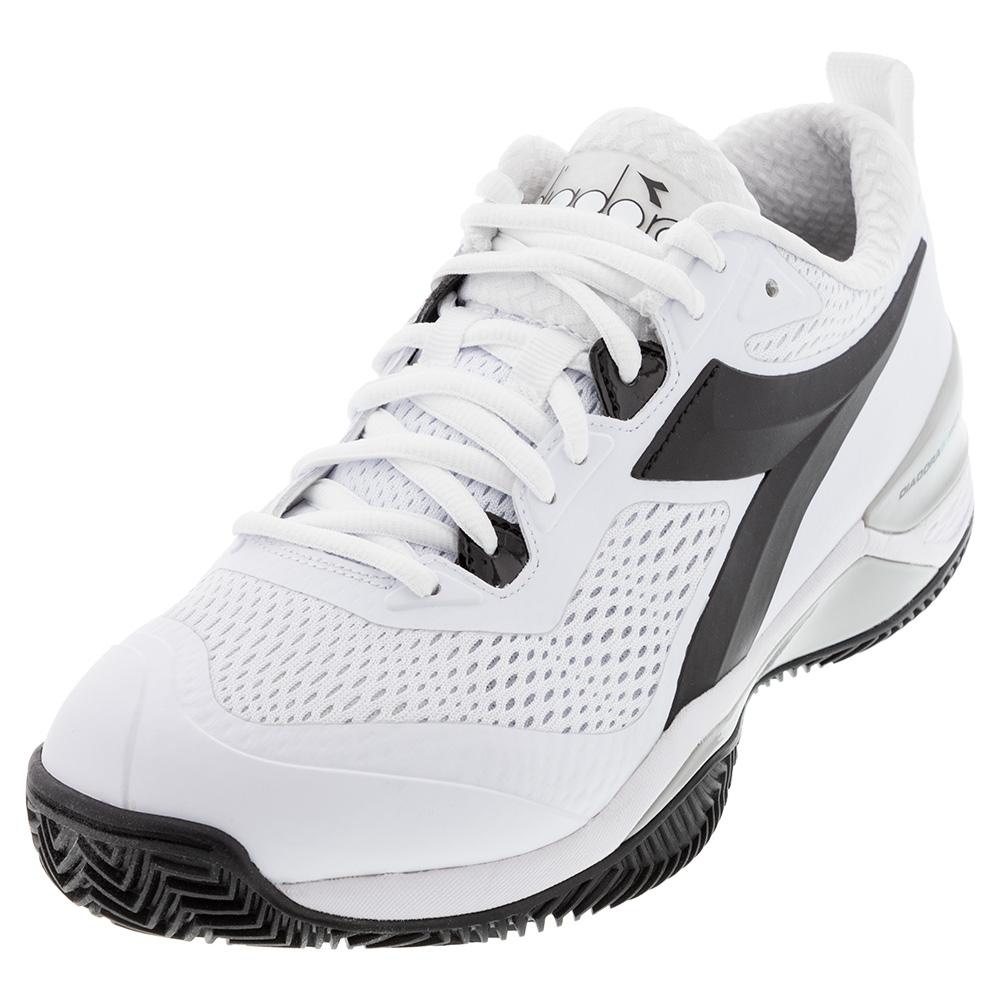 Women's Speed Blushield 4 Clay Tennis Shoes White And Black