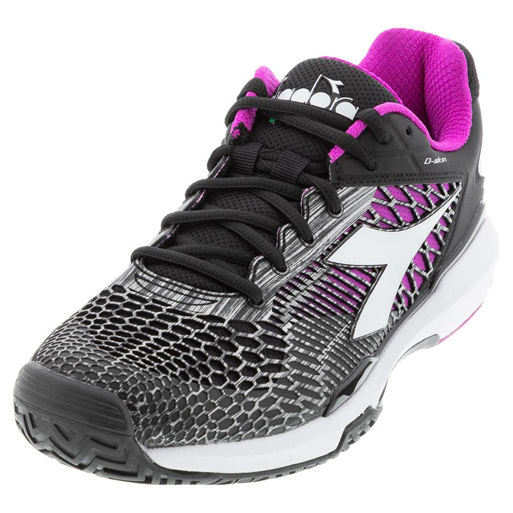 Women's Speed Competition 5 Ag Tennis Shoes Black And White