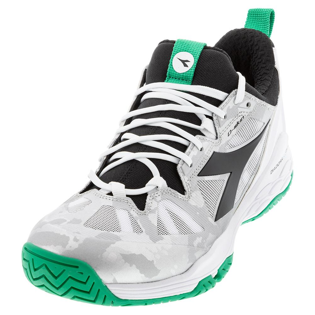Men's Speed Blushield Fly 2 Ag Tennis Shoes White And Holly Green