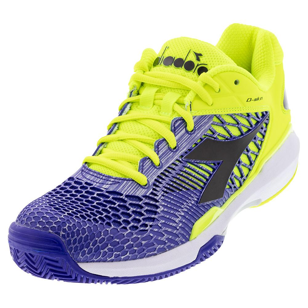 Men's Speed Competition 5 Clay Tennis Shoes Fluo Yellow Dd And Royal