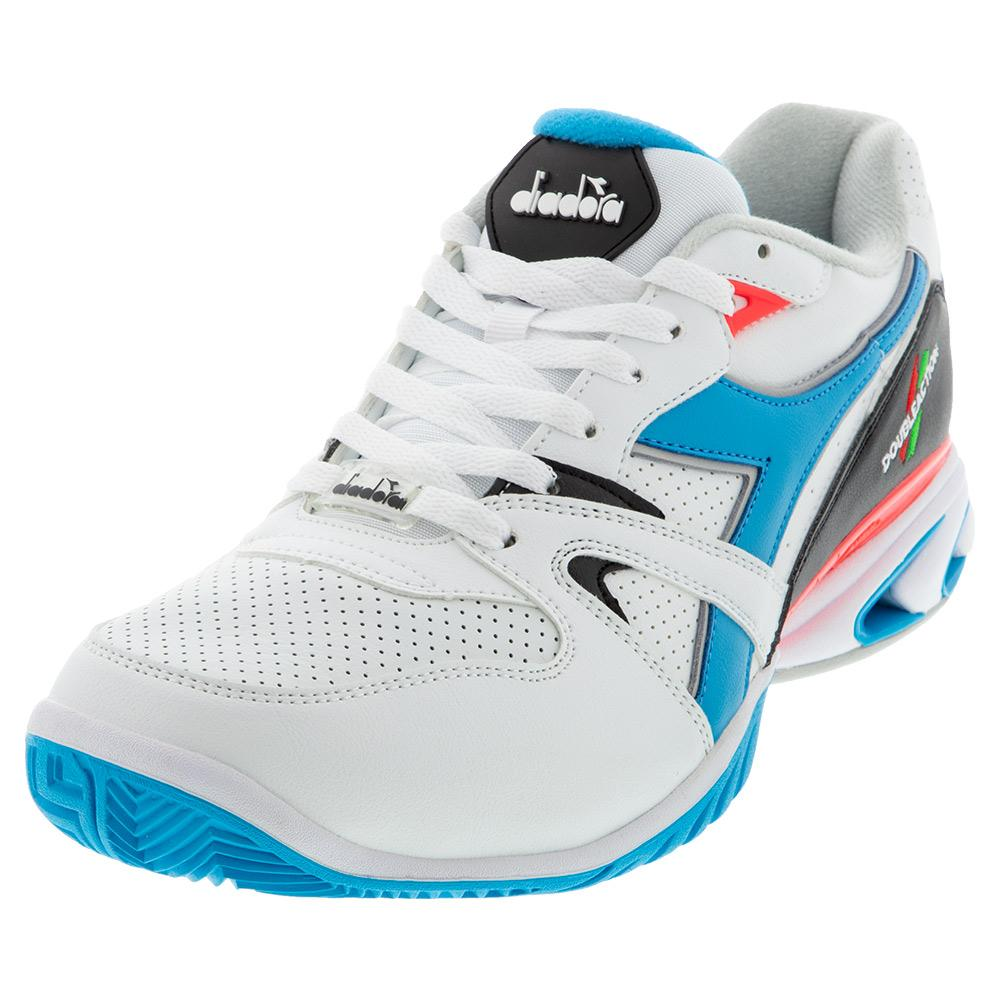 Men's S Star K Duratech Ag Tennis Shoes White And Blue Fluo