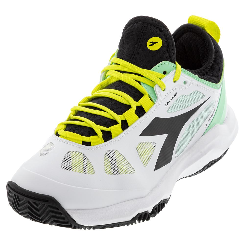 Women's Speed Blushield Fly 3 Plus Clay Tennis Shoes White And Black