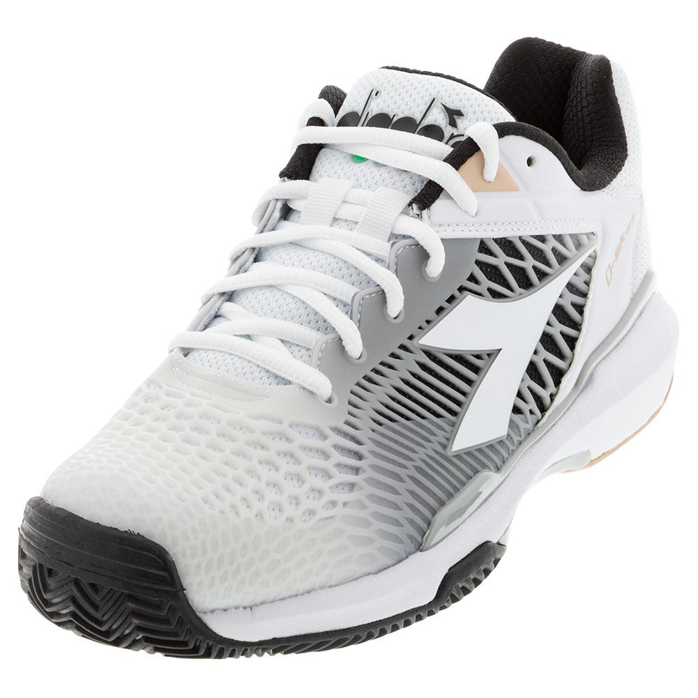 Women's Speed Competition 6 Plus Clay Tennis Shoes White And Silver