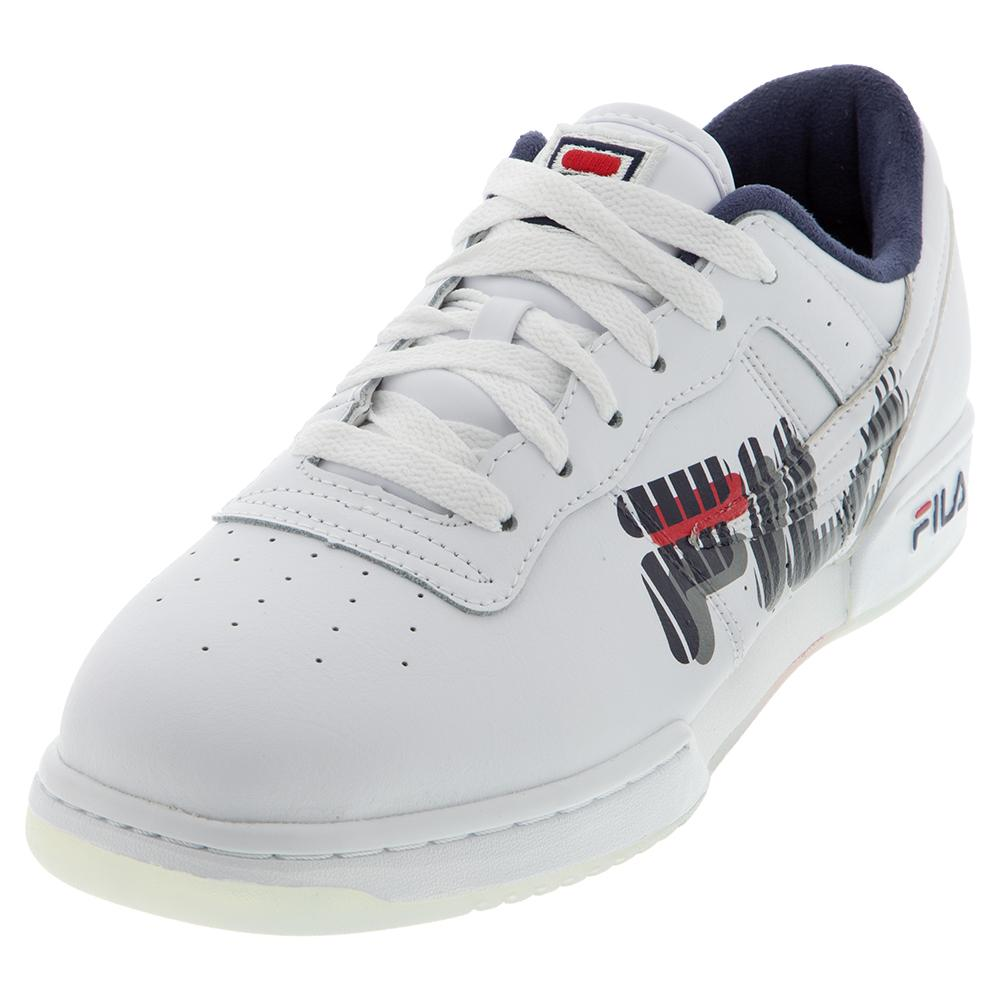 Men's Original Fitness Graphic Shoes White And Navy