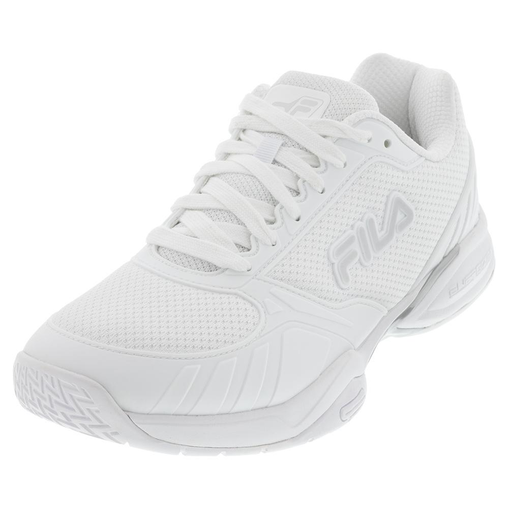 Men's Volley Zone Pickleball Shoes White And Metallic Silver