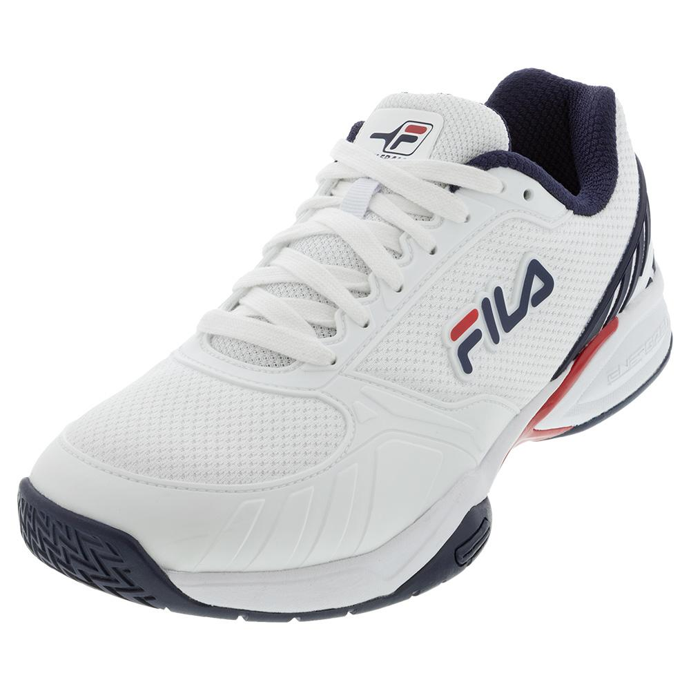 Men's Volley Zone Pickleball Shoes White And Fila Navy
