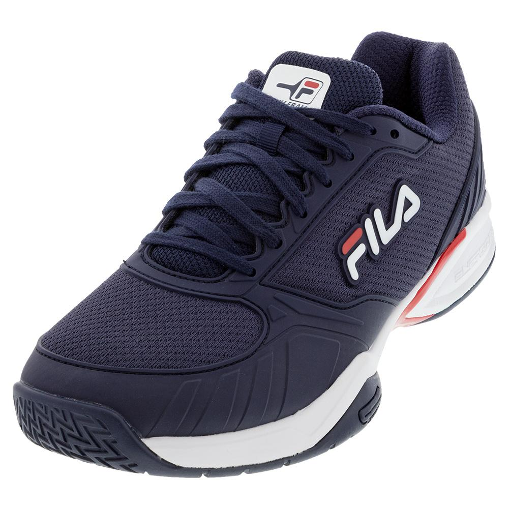 Men's Volley Zone Pickleball Shoes Fila Navy And Red