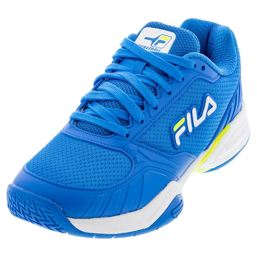 Men's Volley Zone Pickleball Shoes Electric Blue And White
