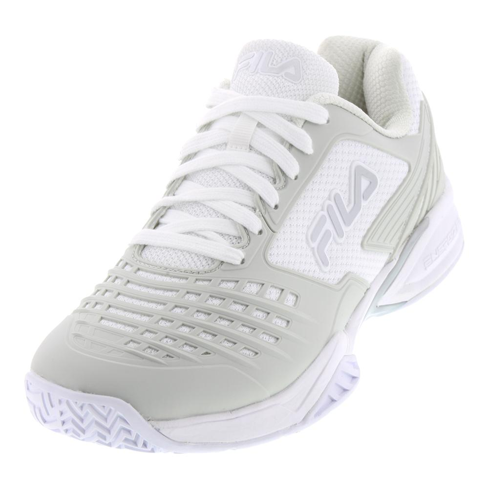 Men's Axilus 2 Energized Tennis Shoes White And Silver