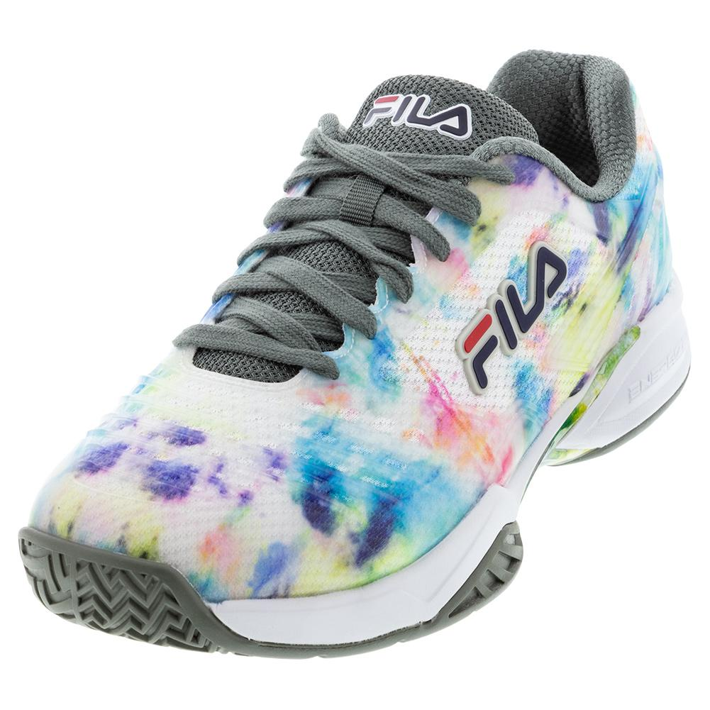 Men's Axilus 2 Energized Tennis Shoes Multicolor And White