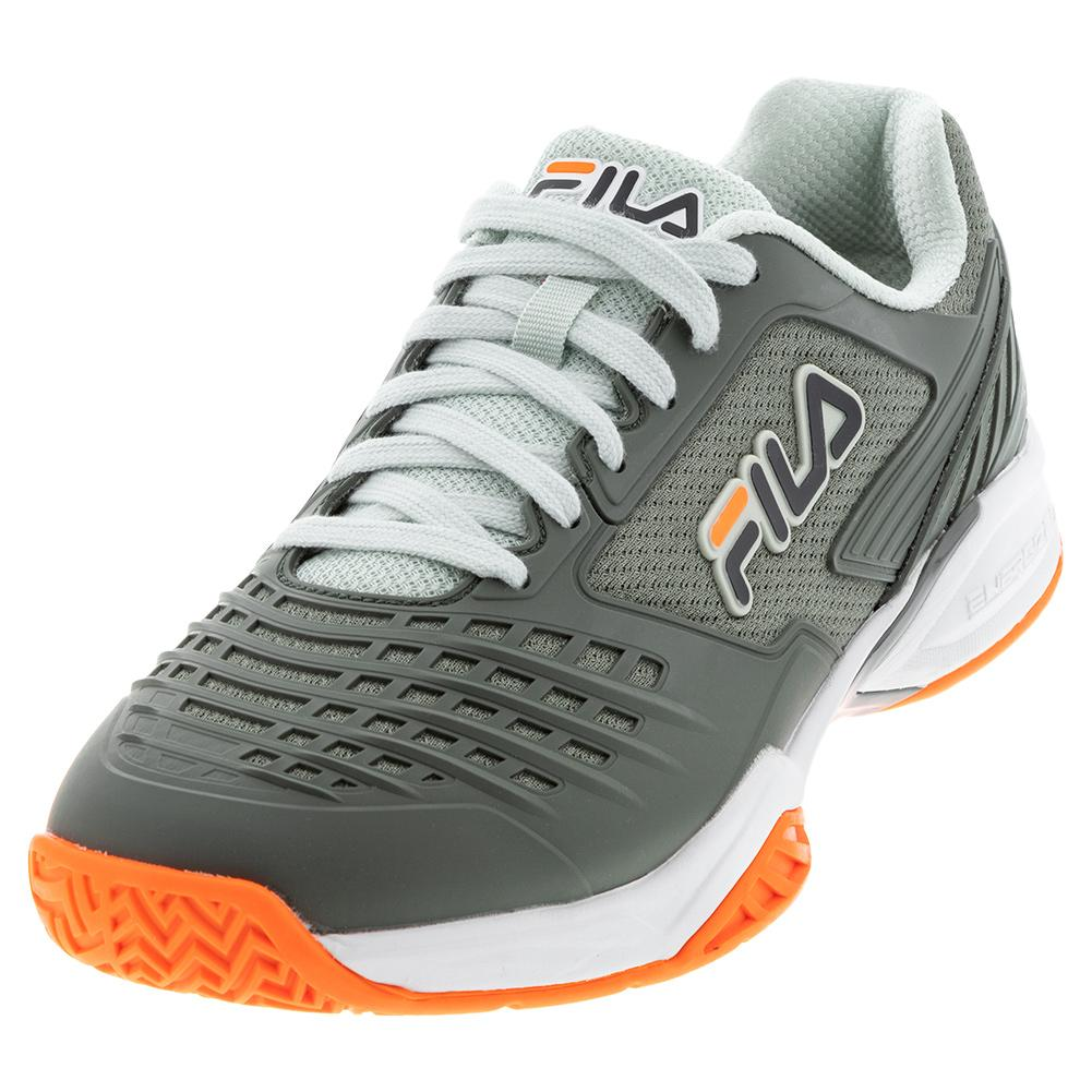 Men's Axilus 2 Energized Tennis Shoes Agave Green And White